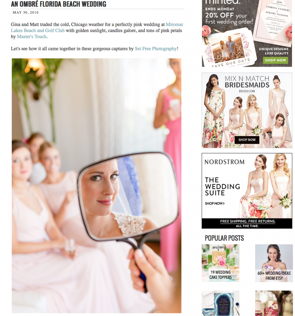 set free photography naples wedding miromar lakes published the perfect palette