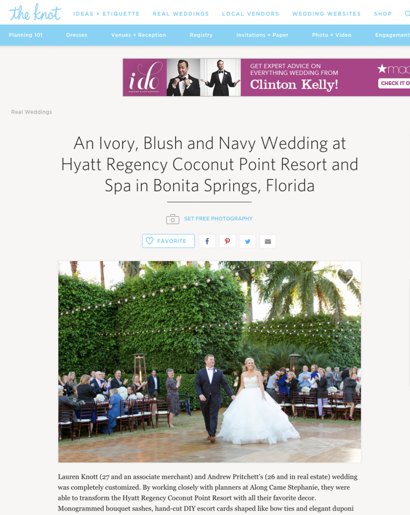 Naples Wedding Photographer Set Free PhotographyFeatured on The Knot ...