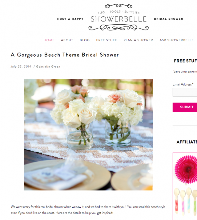 La Playa Bridal shower naples set free photography