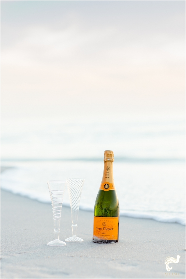 engagement beach naples champagne set free photography florida