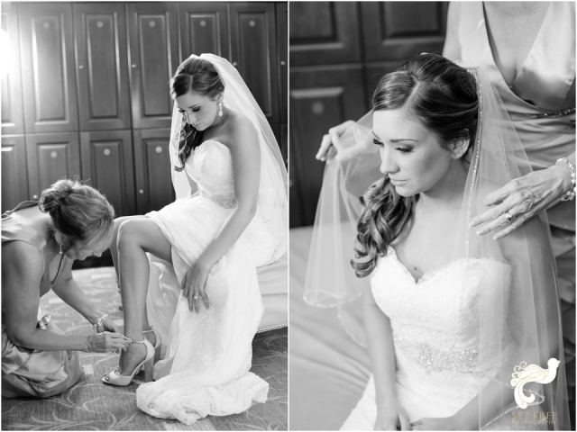 black and white bride getting dressed set free photography naples